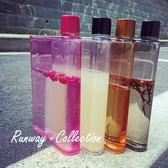 【R】 bottle 透明 便攜 創意 隨手 杯子 運動 紙張 水杯 A5 扁平 塑膠 水壺