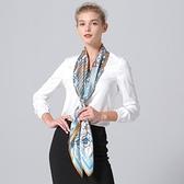 桑蠶絲圍巾-淡雅大方精緻設計女絲巾4色73hx34【時尚巴黎】