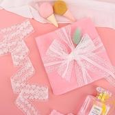 可愛蝴蝶結發飾禮品花束鮮花彩帶禮品包裝絲帶蕾絲花邊【雲木雜貨】