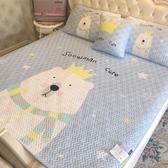 床包組 可水洗天絲空調軟席1.8m床可折疊冰絲涼席三件套