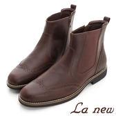 【La new outlet】PU氣墊紳士短靴(男220035620)