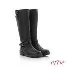 effie 個性美型 防潑水麂皮直筒靴 ...