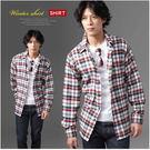 【大盤大】(S50512) 男士 純棉襯衫 法蘭絨襯衫 長袖襯衫 經典格紋 格子 父親節 禮物 有大尺碼