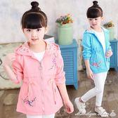 外套 女童外套秋冬裝正韓時髦洋氣女孩中大童長款加絨加厚風衣 瑪麗蓮安