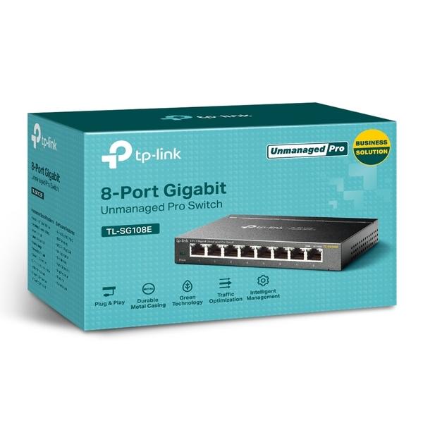 TP-LINK TL-SG108E 8埠Gigabit簡易智慧型交換器 (版本:5.0)