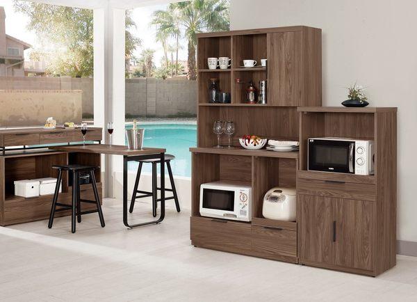 【森可家居】諾艾爾3.3尺收納櫃(上下座) 8CM906-1 餐櫃 廚房櫃 碗盤碟櫃 木紋質感 北歐風 工業