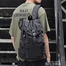 男士雙肩包休閒旅行包時尚潮流大容量抽繩背包書包大學生簡約防水 依凡卡時尚