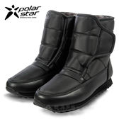 PolarStar 男 防潑水保暖雪鞋│雪靴│冰爪『漆皮黑』 P13619.(內厚鋪毛)防滑鞋底.雪地靴.非UGG靴