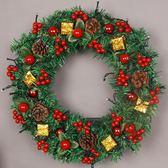 圣誕節發光大號手工花環墻掛門掛商場櫥窗藤條圣誕樹裝飾品 露露日記