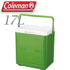 【Coleman 美國 17L 置物型冰桶 綠】行動冰箱/保冷冰箱/拉桿式行動冰箱CM-1323JM000★滿額送