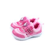 Hello Kitty 凱蒂貓 休閒運動鞋 電燈鞋 魔鬼氈 桃紅色 中童 童鞋 720962 no830
