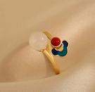 戒指 祥云戒指女輕奢小眾設計精致中國風食指戒高級感時尚個性指環