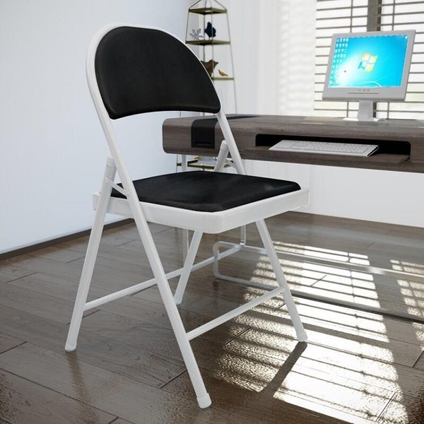電腦椅家用現代簡約臥室辦公椅摺疊椅工學生書桌椅會議靠背座椅子WY【快速出貨】