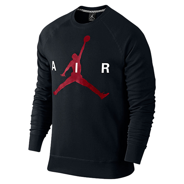 (特價) NIKE大學t 衛衣 長袖 696185-010 黑紅Jordan Jumpman Graphic Brushed Crew 【代購】