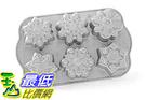 [105美國直購] Nordic Ware 89648 雪花蛋糕模具 烤盤 Frozen Snowflake Cakelet Pan, Metallic