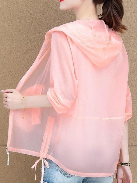 防曬衣 防曬衣女長袖2021年夏季新款韓版洋氣薄款百搭防曬服女士短外套潮 夢藝家