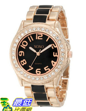 [美國直購 USAShop] 手錶 XOXO Women s XO5473 Rose Gold Tone and Black Epoxy Bracelet Watch $1072