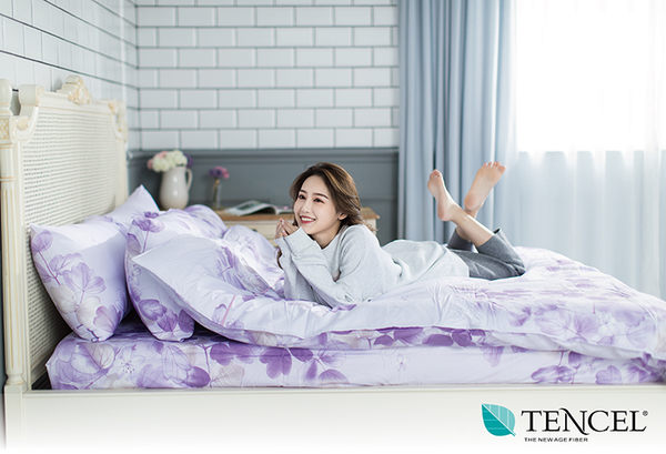 快速出貨【LORIA洛莉亞】超便宜平價天絲TENCEL天絲兩件式床包組~單人【陌上開花~紫】