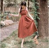超殺29折 韓國風時尚厚毛呢吊帶套裝長袖裙裝