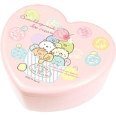 〔小禮堂〕角落生物愛心 塑膠掀蓋收納盒附鏡《粉冰淇淋》飾品盒珠寶盒4548626 09723