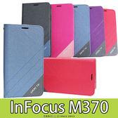 E68精品館 隱形磁扣皮套 富可視 InFocus M370 側翻支架 磨砂雙色 手機套保護套 軟殼