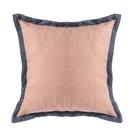 HOLA 素色雅織雙色抱枕60x60cm 靛藍粉