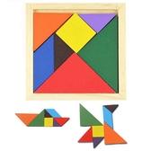 木製早教兒童 七巧拼板拼圖玩具板智慧啟發幼兒早教教具手工 88049