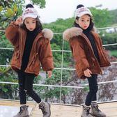 雙十二狂歡 女童冬裝外套韓版2018新款兒童棉衣加厚洋氣棉服女寶寶公主毛領潮 挪威森林