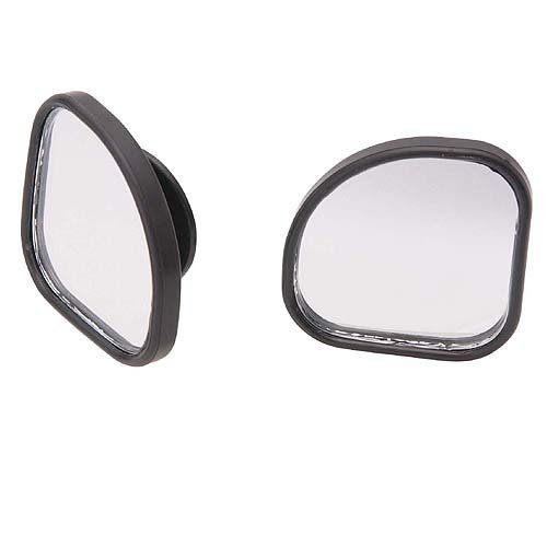 車之嚴選 cars_go 汽車用品【CZ244】日本CARMATE 黏貼式超廣角安全行車輔助鏡(扇型) 2入