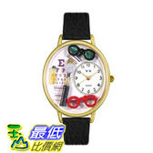 [美國直購 ShopUSA] 手錶 Whimsical Watches Unisex G0620003 Ophthalmologist Black Skin Leather Watch $2018