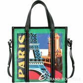 BALENCIAGA Bazar 巴黎城市系列羊皮托特包 1820362-08