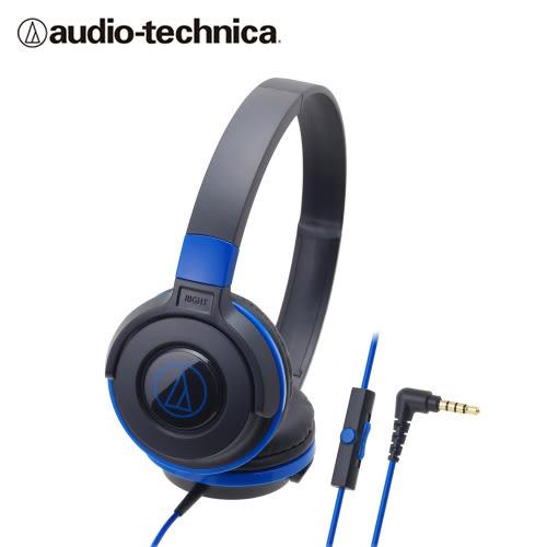 【audio-technica 鐵三角】ATH-S100iS 智慧型手機用攜帶式耳機-黑藍