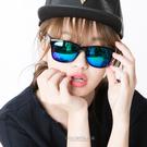 太陽眼鏡  時尚粗框大鏡面變色反光墨鏡 中性設計 抗UV400【NY298】