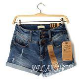 高腰牛仔短褲女夏寬松韓版顯瘦學生卷邊直筒牛仔褲熱褲超短褲新品