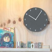 鐘錶掛鐘客廳創意現代簡約圓形數字家用臥室超靜音小掛錶   igo可然精品鞋櫃