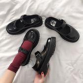 小皮鞋女英倫夏天森女系日系百搭黑色復古瑪麗珍鞋一字扣