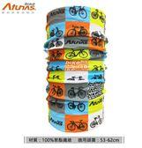 《Atunas Bike》歐都納 單車 抗UV多功能魔術頭巾 經典單車