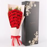聖誕好物85折 母親節禮物實用送媽媽康乃馨玫瑰香皂花仿真