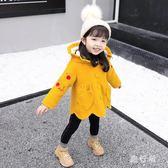 中大尺碼毛呢外套 大衣洋氣女童小童毛呢子外套冬裝夾棉加厚冬季兒童 AW14468【旅行者】