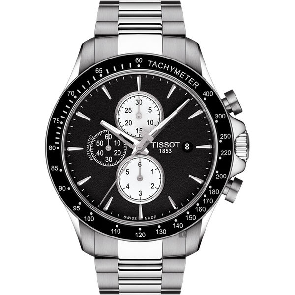 TISSOT天梭 V8系列三眼計時機械錶