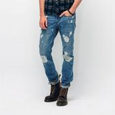 SISJEANS-中色重破壞直筒牛仔褲【SISMJ004】