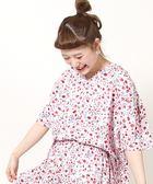 棉質色丁布小碎花襯衫(印花套頭衫)【coen】