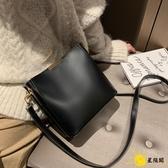 水桶包 百搭網紅大容量水桶包包女2019新款韓版子母單肩包大包復古斜背包
