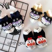 童襪秋冬新款珊瑚絨襪子兒童卡通公仔地板襪加厚防滑寶寶襪子
