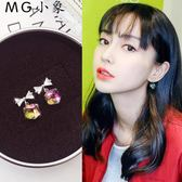 耳墜-韓版個性極光方糖氣質耳環