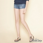 Victoria 合身彈性牛仔短褲-女