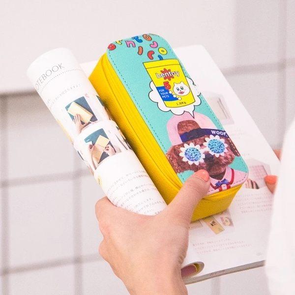 眼鏡盒-可愛動物拉鍊眼鏡盒/太陽眼鏡/收納盒/零錢包/收納包-共4色-FuFu