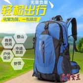 新款登山包大容量戶外旅行包防潑水雙肩包尼龍背包大中學生 aj13025【花貓女王】