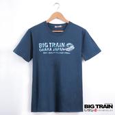 Big Train 迷彩文字圓領T-男-深藍-Z8012356(領劵再折)