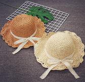 女童草帽夏季大沿親子遮陽帽寶寶防曬度假沙灘帽公主太陽帽韓版潮